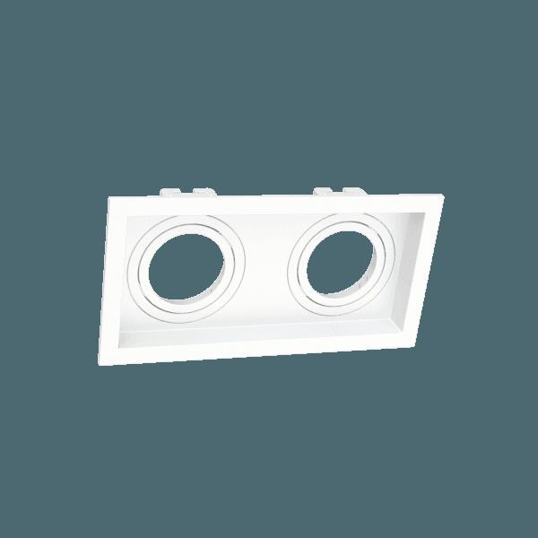 Spot de Embutir MR16 Dicroica Duplo Recuado