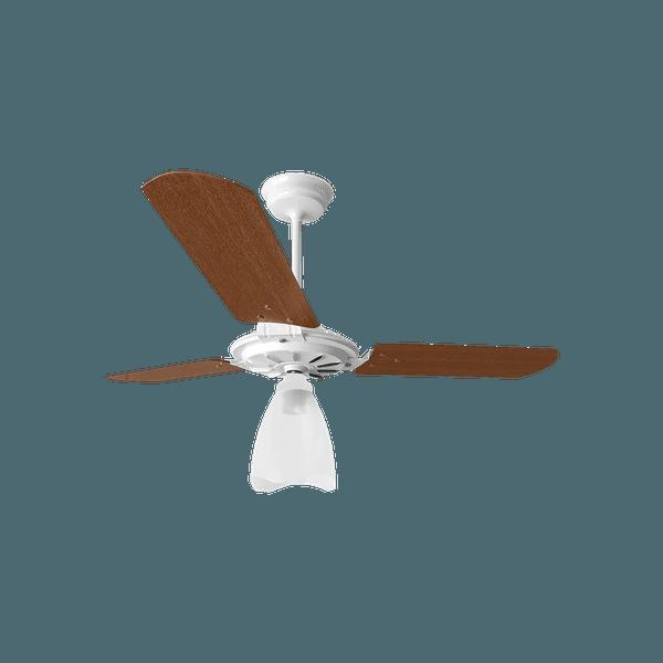 Ventilador de Teto Yris 150W Branco 3 Pás Mogno 127V