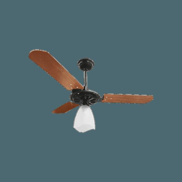 Ventilador de Teto Yris 150W Preto 3 Pás Mogno 127V