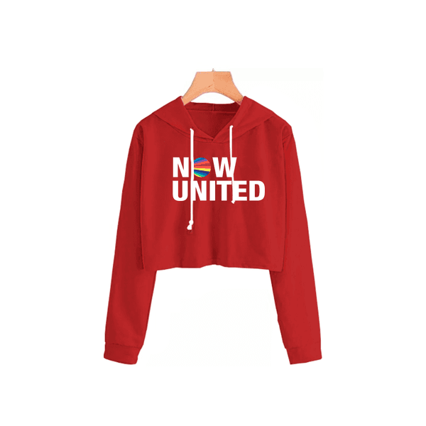 Cropped Moletom Feminino Now United Bordô