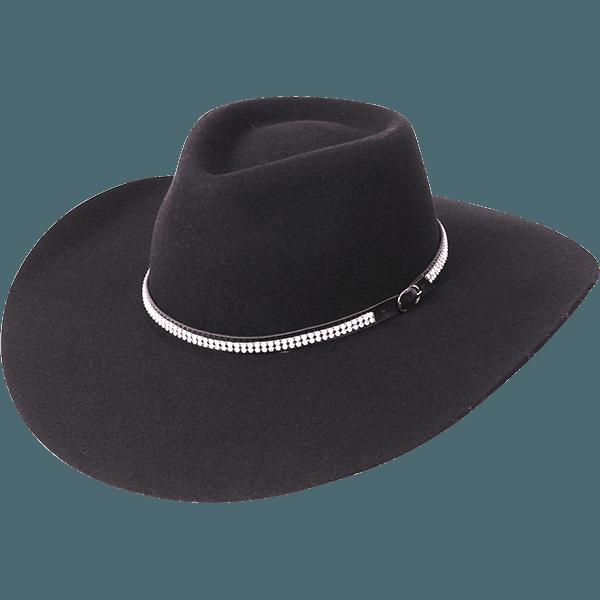 Chapéu Pralana 5x strass preto