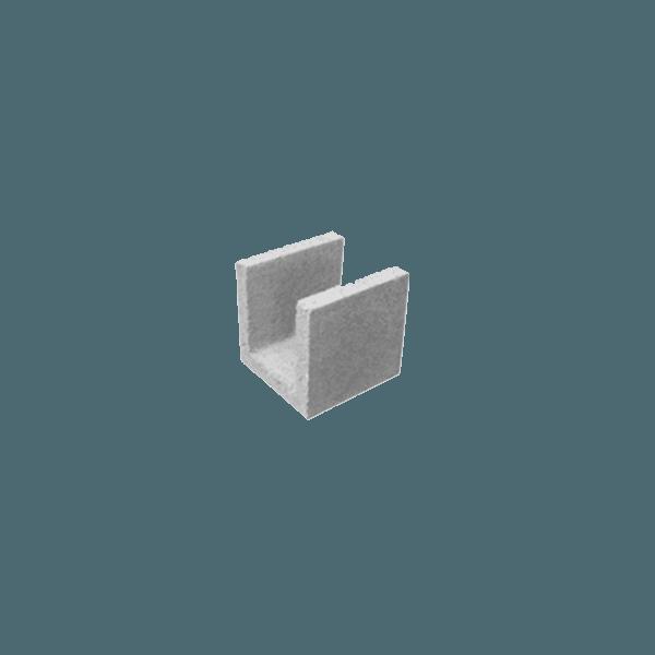 Meia Canaleta Concreto 19x19x19