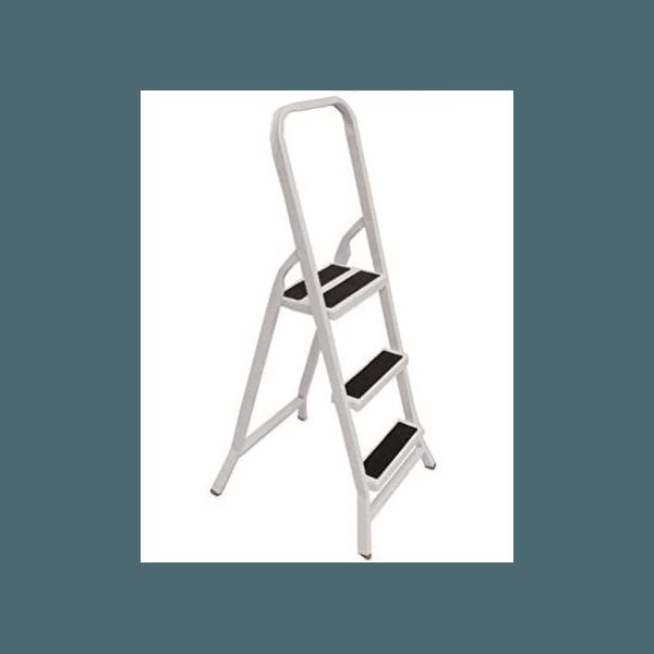 Escada de 3 Degraus para Uso Doméstico Dobrável de Ferro