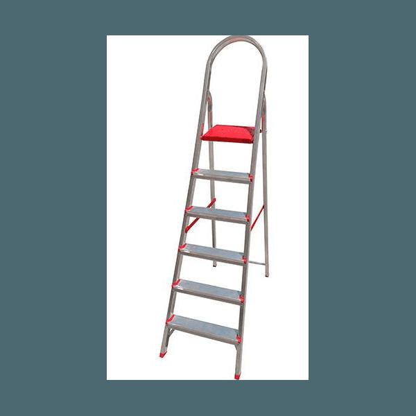 Escada doméstica de alumínio 6 degraus - Ágata