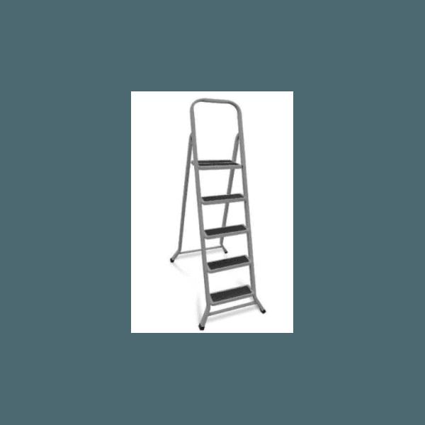 Escada de 5 Degraus para Uso Doméstico Dobrável de Ferro