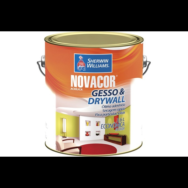 Tinta Acrílica Branco Gesso & Drywall Novacor 3,6 Litros