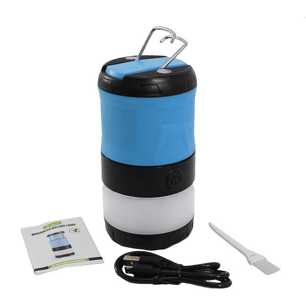 Lâmpada Impermeável Anti-mosquito Camping Recarregável USB - Azul