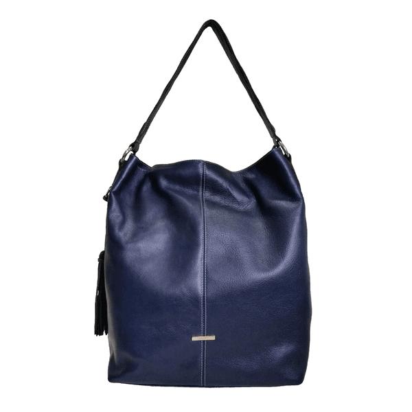 Bolsa Feminina Poucelle em Couro cor Azul Marinho