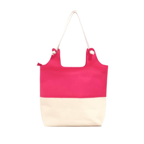 Bolsa Bag Moda Praia De Ombro Com Necessaire Feminina Rosa