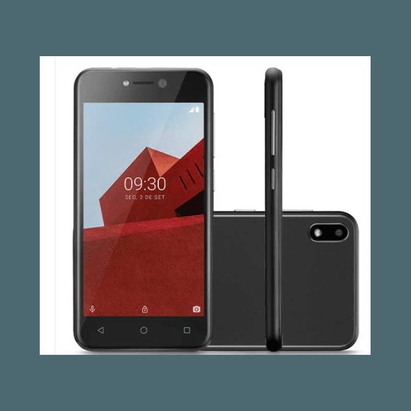 """Smartphone Multilaser E P9128 Preto com 32GB, Tela 5"""", Android 8.1, Dual Chip, Câmera 5MP, 3G, Bluetooth e Processador Quad core"""
