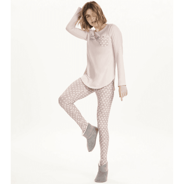 Pijama Manga Longa com Legging