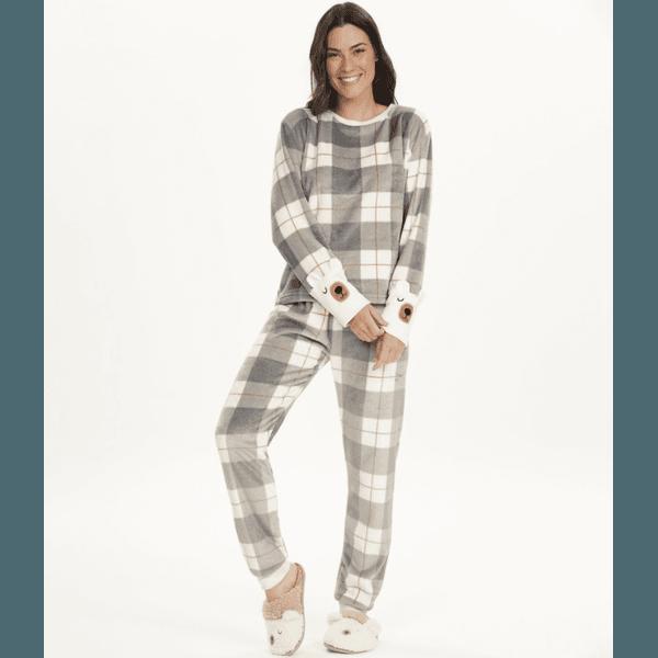 Pijama Manga Longa em Plush Fleece
