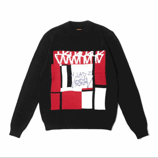 Jacquard Sweater Class OSCURURU Black