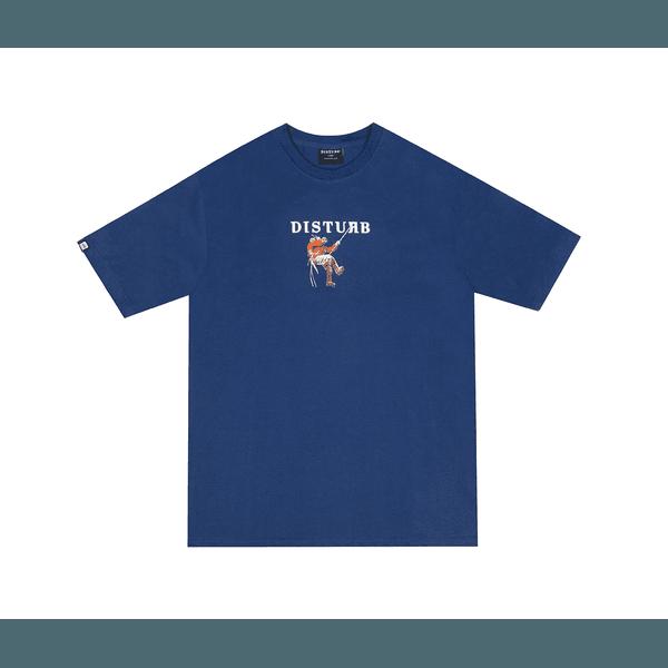 Camiseta Disturb Climbling Logo Tee Blue