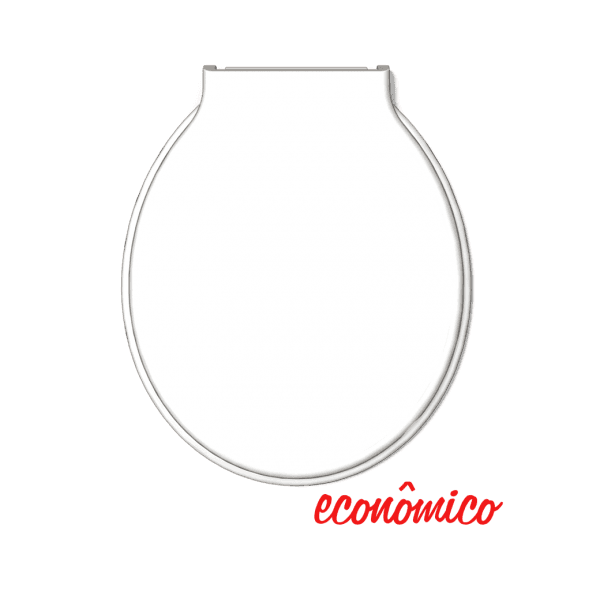 Assento Especial Almofadado Bellart Redondo Branco