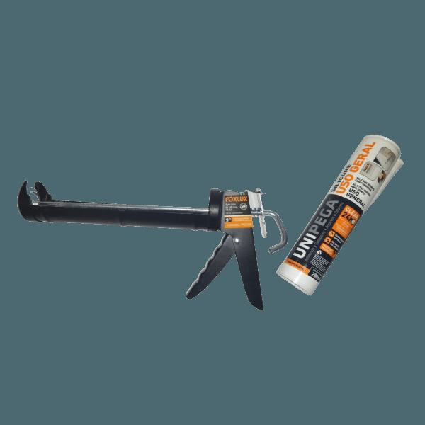 Kit Aplicador de Silicone Foxlux + Silicone Híbrido Clear 24H