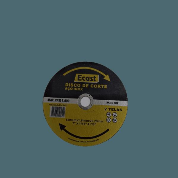 Kit 3 Disco de Corte Aço Inox MAX.RPM 8.600 Ecast