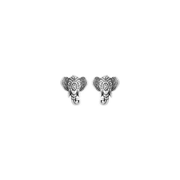 Brinco Elefante Trabalhado Envelhecido em Prata 925