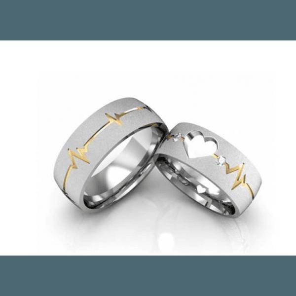 Alianças Love ♥ Namoro e Compromisso em Prata 0,950