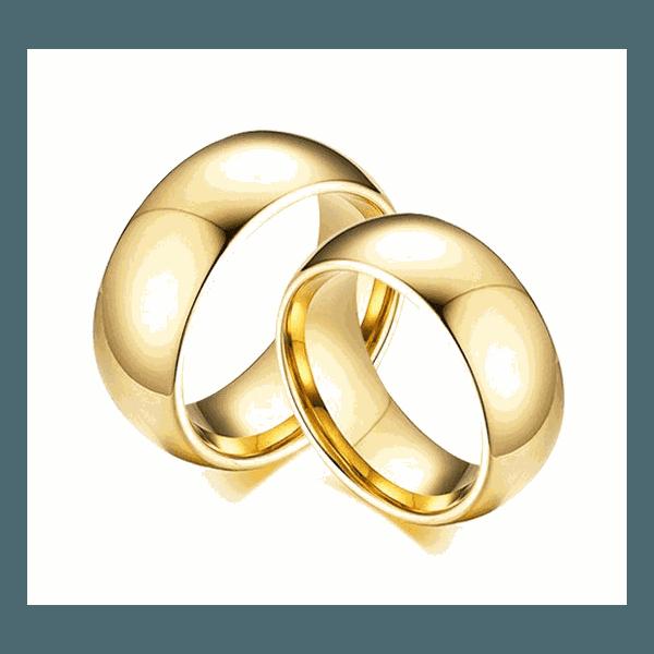 Alianças Gaya 8mm ♥ Casamento E Noivado Tungstênio