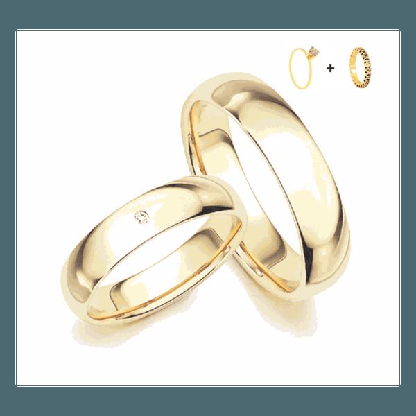 Combo Gaya 6mm ♥ Casamento E Noivado Tungstênio