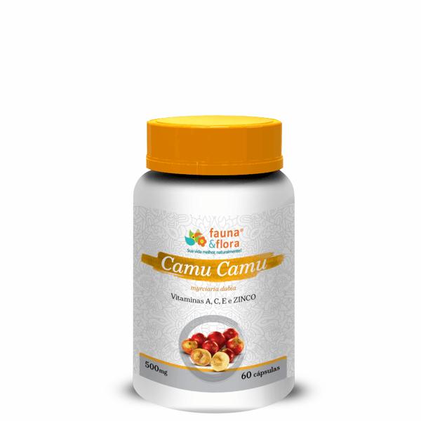 Camu Camu Cicatrizante Natural com Vitaminas A, C, E e Zinco 500mg 60caps