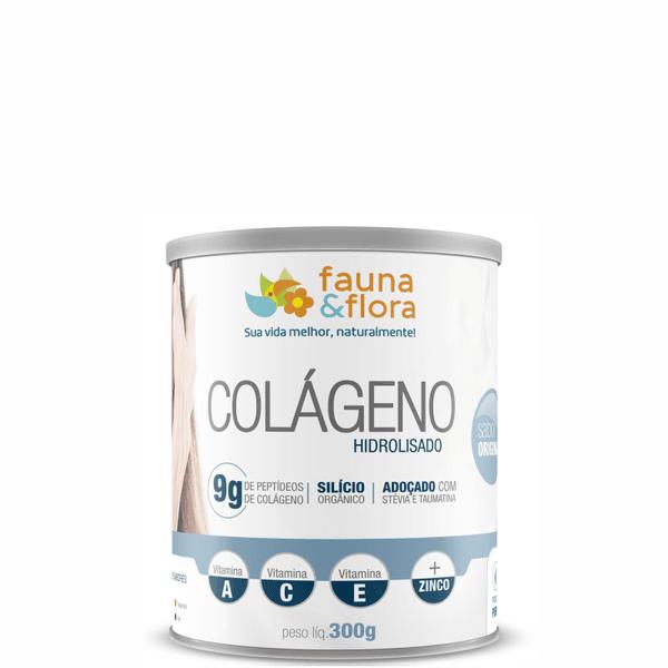 Colágeno Hidrolisado com Silício Orgânico zero Malto sabor Original 300g