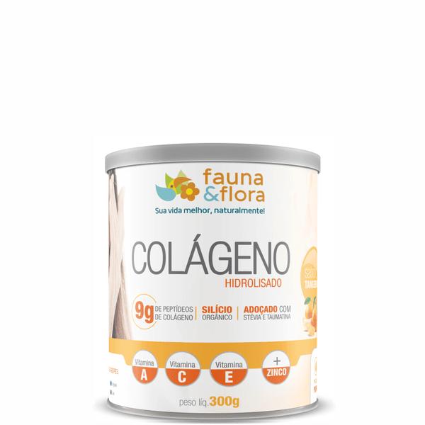 Colágeno Hidrolisado com Silício Orgânico zero Malto sabor Tangerina 300g
