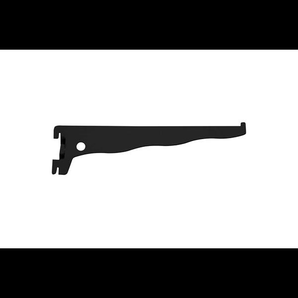 Suporte De Trilho Preto 30cm P/prateleira