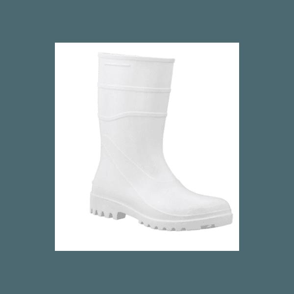Bota PVC Cano Medio Bracol Branca 38 CA37456 662563