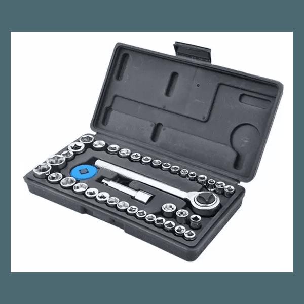 Jogo Soquete Encaixe 1/4 e 3/8 40 PCS FertaK 4820