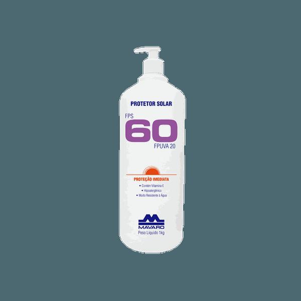 Protetor Solar 1 Litro FPS 60 Mavaro