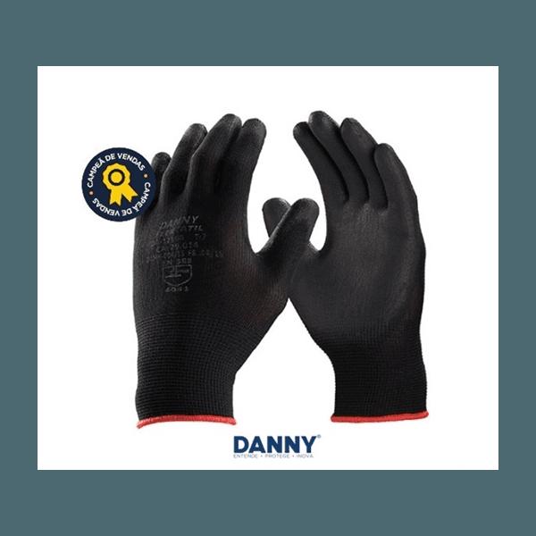 Luva Poliamida Palma PU Flextactil T-G Danny DA12100 WG PT CA29014