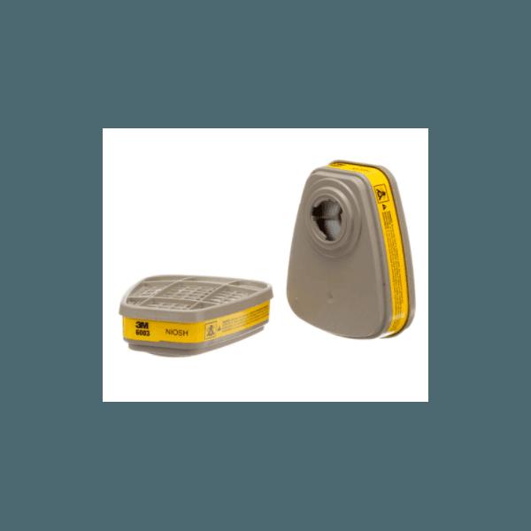 Cartucho Filtro 6003 Vapores Organicos e Gases Ácidos 3M