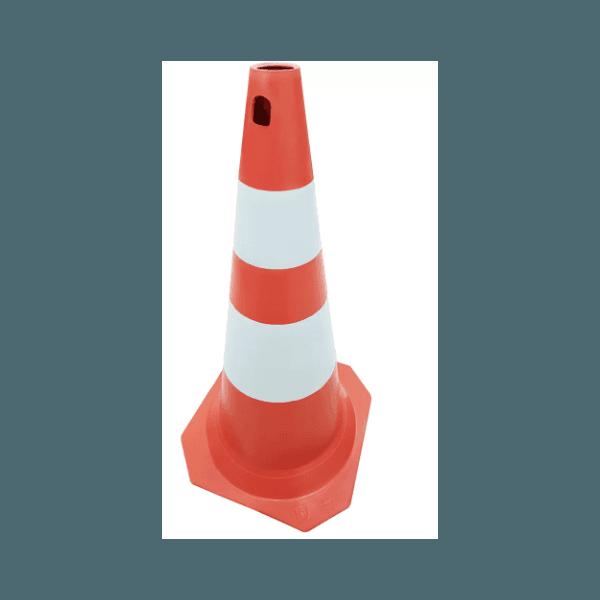 Cone Rigido 50cm Laranja/Branco Kteli