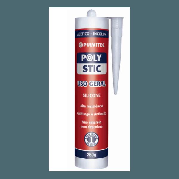 Silicone Acético Incolor Polystic 250G Pulvitec