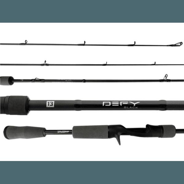"""Vara 13 Fishing Defy Black DEFBCPB58M1 10-17lbs 5'8"""" (1,72m) p/ Carretilha Inteiriça"""
