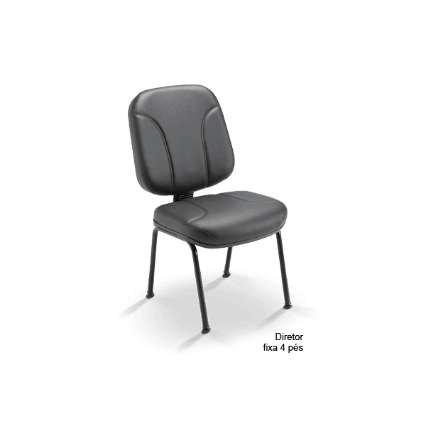Cadeira Operativa Diretor fixa 4 pés - Plaxmetal