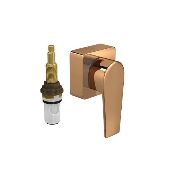 """Acabamento para Registro de Pressão Deca 1/2"""" e 3/4"""" com Mecanismo 1/2 Volta Level Red Gold - 4916.GL26.PQ.RD"""