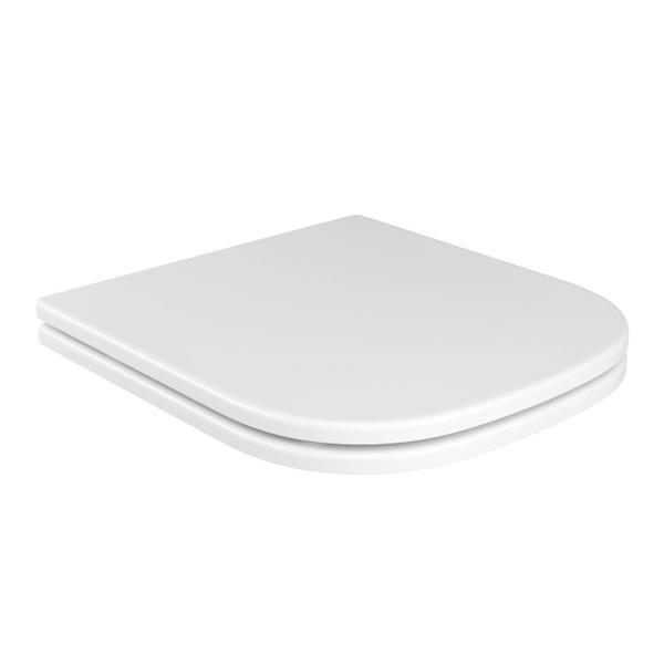 Assento Poliéster Deca Slow Close com Protekto Axis/Quadra/Polo/Unic Branco - AP.217.17