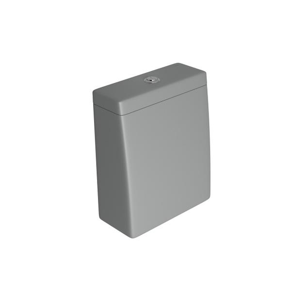 Caixa Acoplada Deca com Acionamento Duo Lk Cinza Fosco - CD.23F.86