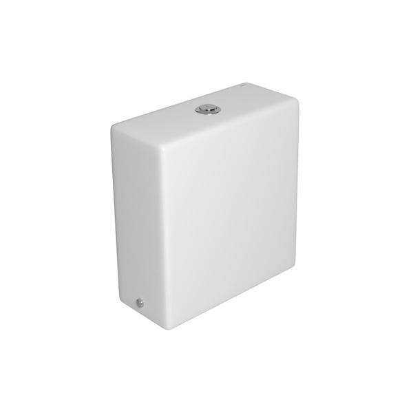 Caixa Acoplada Deca com Acionamento Duo (3 e 6L) Quadratta Branca - CD.44F.17