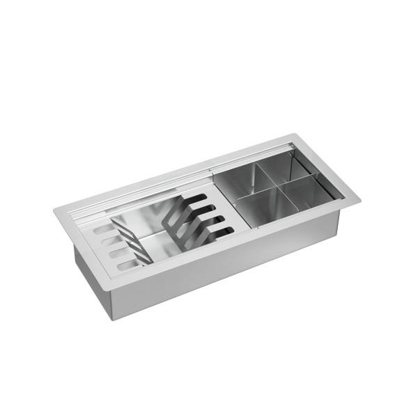 Calha Organizadora de Cozinha 45cm Inox - AC.200.45.ORG.INX