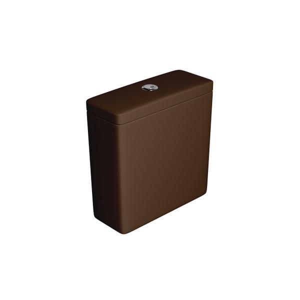 Caixa Acoplada Deca com Acionamento Duo Axis/Living/Piano/Polo/Quadra/Unic Marrom Fosco - CD.21F.22