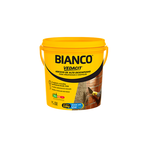 ADESIVO BIANCO RESINA BALDE 3,6L VEDACIT