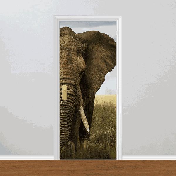 Adesivo para Porta - Elefante