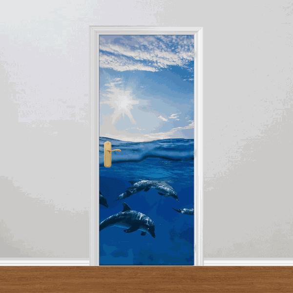 Adesivo para Porta - Golfinhos