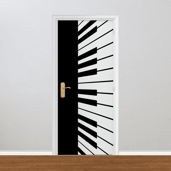Adesivo para Porta - Piano