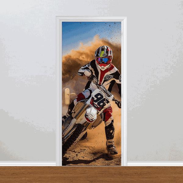 Adesivo para Porta - Motocross