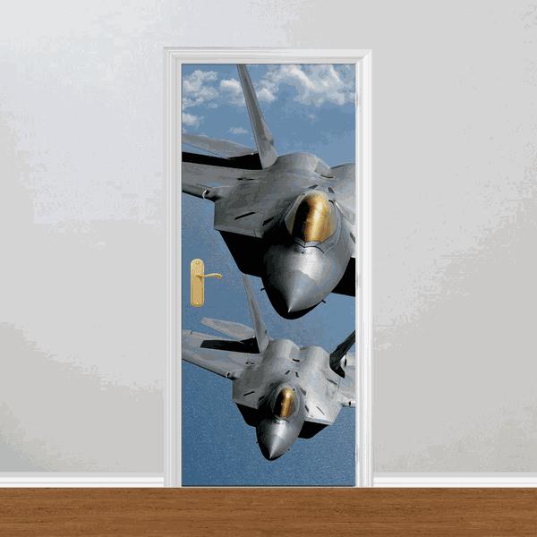 Adesivo para Porta - Aviões de Caça